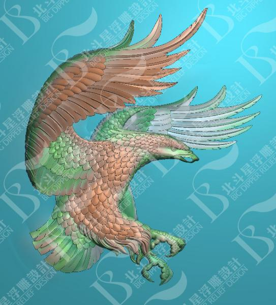 作品名称:动物浮雕:老鹰